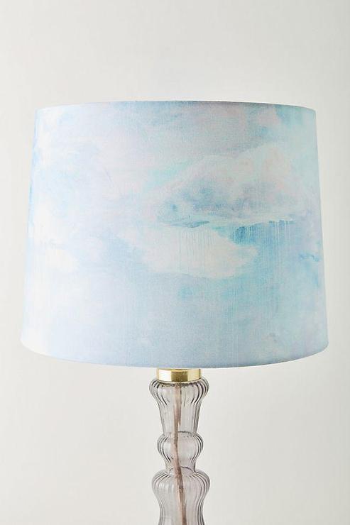 Camille Javal Sky Lamp Shade, Aqua Blue Lamp Shades