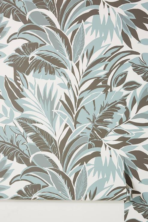 Palm Silhouette Gray Leaves Wallpaper Colorful tropical wallpaper palm leaves wall mural peel and stick removable wallpaper living room decor style bedroom wall mural. palm silhouette gray leaves wallpaper