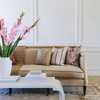 Pink And Brown Living Rooms Design Ideas