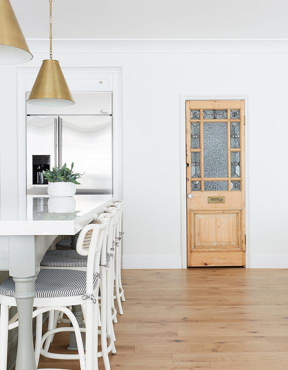 Vintage Pantry Door With Glass Panels Transitional Kitchen