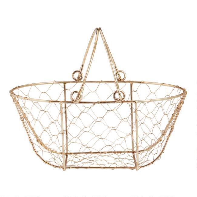 small oval willow basket for gift giving storage.htm mini gold wire open weave basket  mini gold wire open weave basket