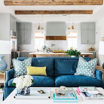 Denim Blue Sofa Design Ideas