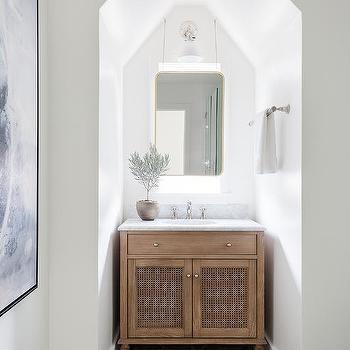 Baskets Under Bath Vanity Design Ideas