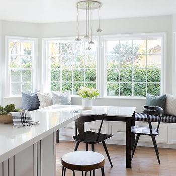 Bay Window Rectangular Dining Table Design Ideas