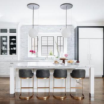 White And Gold Kitchen Design Ideas