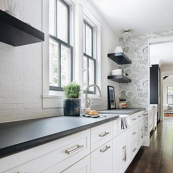 White Brick Kitchen Backsplash Tiles Design Ideas