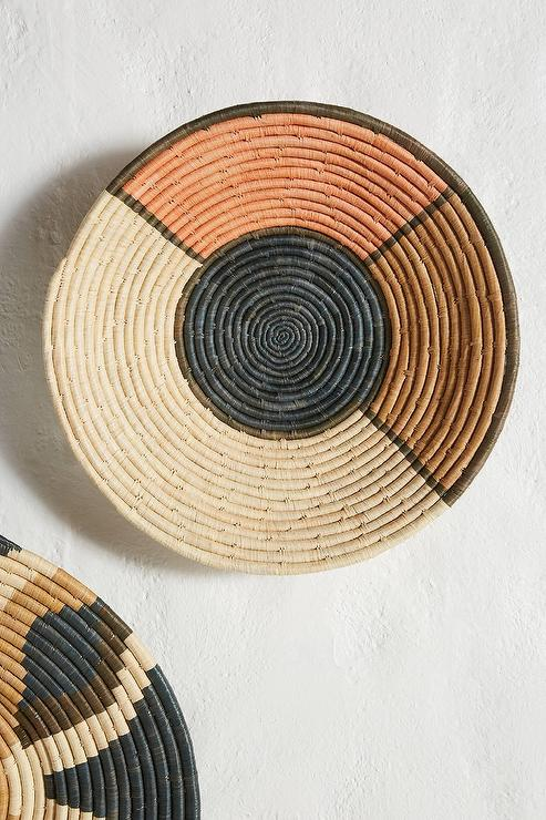 small woven wall hanging woven tray decorative woven wall.htm round raffia peach hanging basket  round raffia peach hanging basket