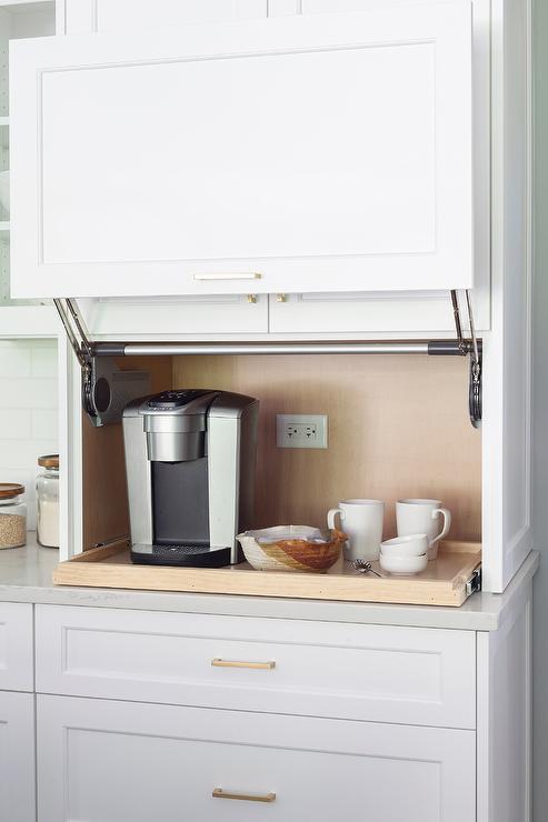 Kitchen Coffee Station In Appliance, Small Appliance Garage