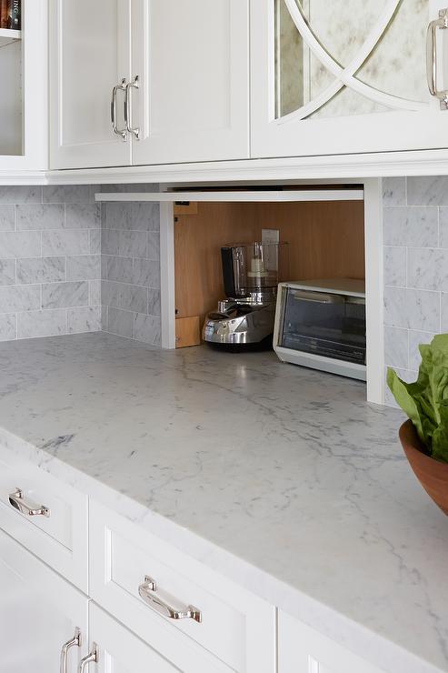 Small Appliance Garage Cabinet, Small Appliance Garage