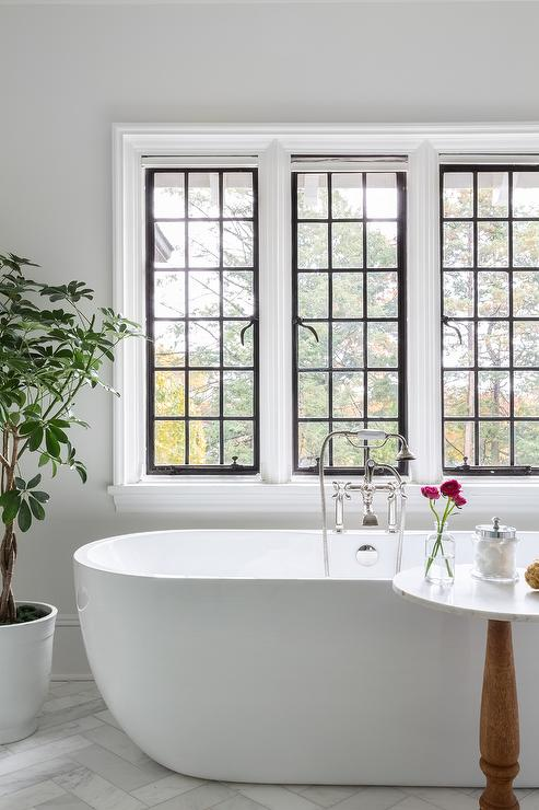 privacy for bathroom window over tub decorative window.htm oval bathtub with potted tree transitional bathroom  oval bathtub with potted tree