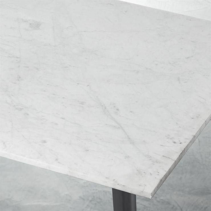 Harper Rectangular White Marble Dining Table Top