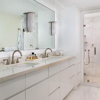 Cream And Blue Bathroom Design Design Ideas