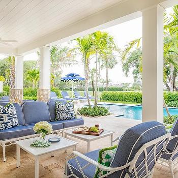 navy blue patio furniture design ideas