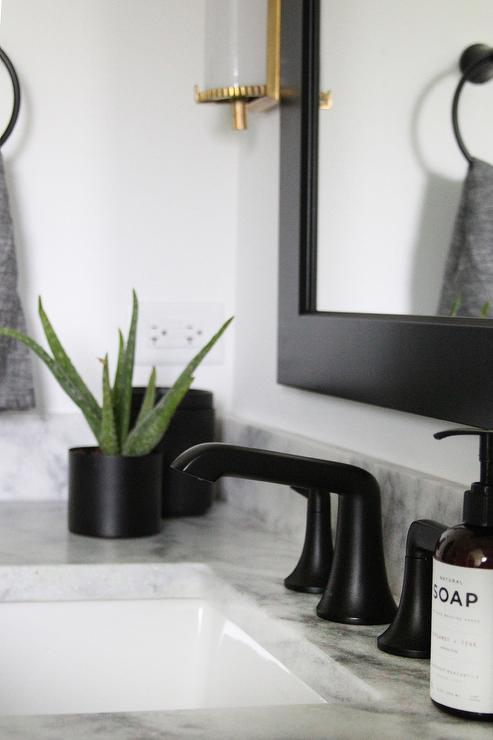 amazing marble countertop sink design and modern faucet.htm matte black faucet with gray marble transitional bathroom  matte black faucet with gray marble