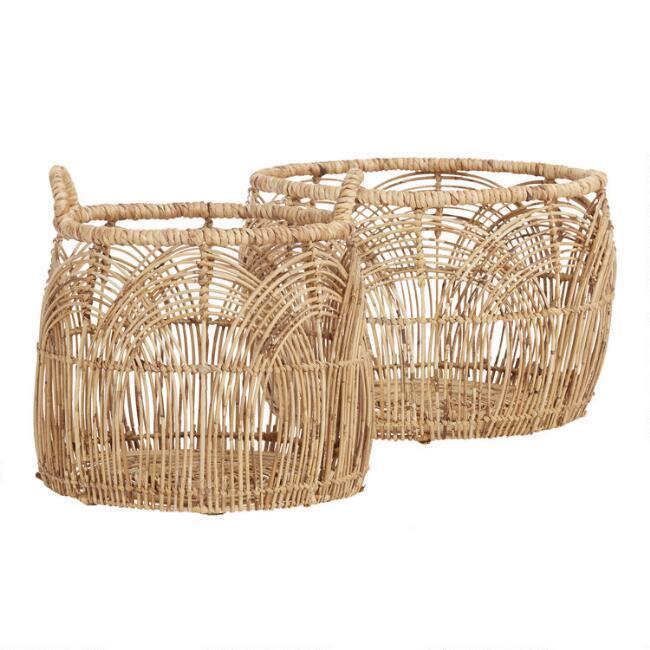 small decorative baskets.htm iris natural rattan open weave baskets  iris natural rattan open weave baskets