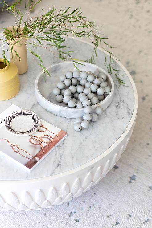 Round Tray On Coffee Table, Coffee Table Tray Round White