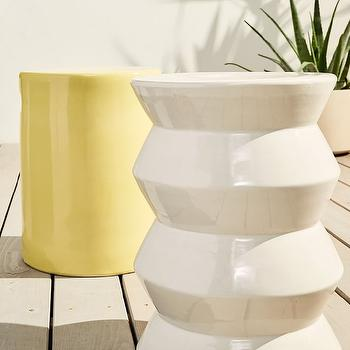 White Geometric Accent Table Look 4 Less And Steals And Deals