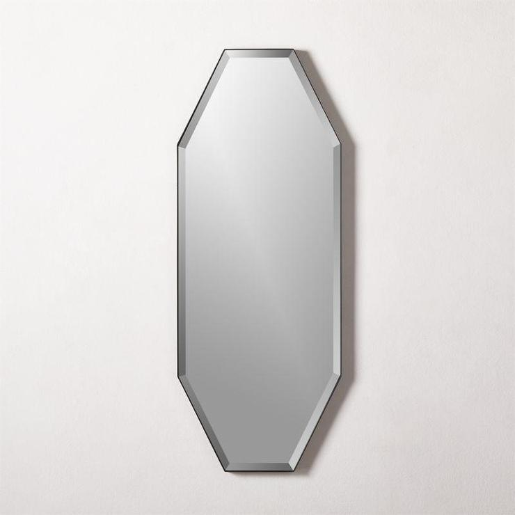 Octagon Beveled Frameless Wall Mirror