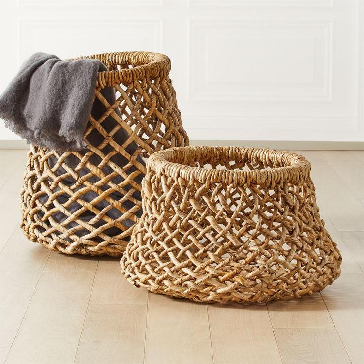 Hoop Banana Bark Rope Woven Baskets