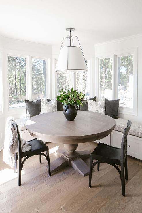 L Shaped Bench Window Seat Transitional Dining Room