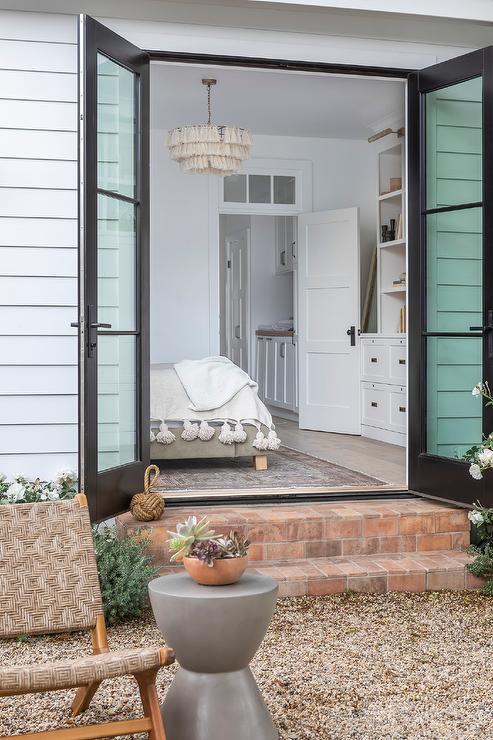 Master Bedroom Doors To Backyard Transitional Deck Patio