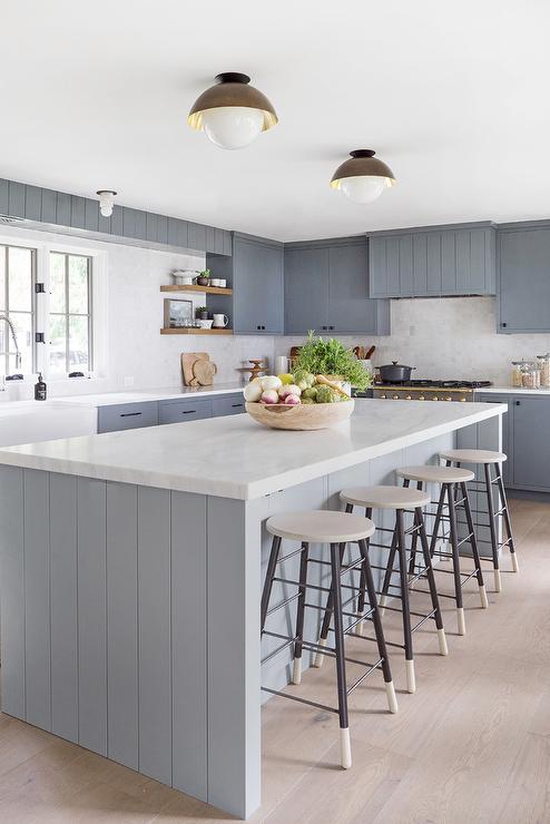Black Shiplap Kitchen Island Design Ideas