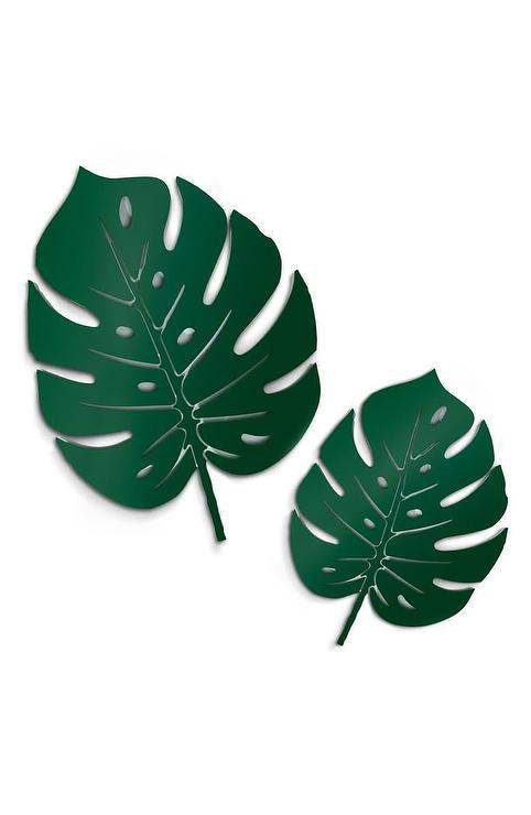 4art Works Tropical Leaves Wall Art Large collection of decorative tropical stencils for diy home decor. 4art works tropical leaves wall art