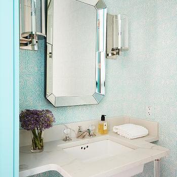 Art Deco Bathroom Wallpaper Design Ideas