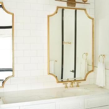 Brass Trim Bathroom Mirror Design Ideas