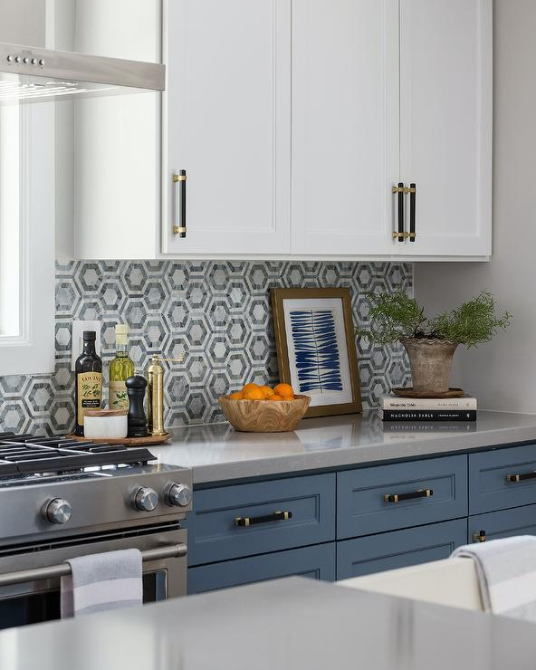 Blue Kitchen Cabinets With Black Countertops Design Ideas