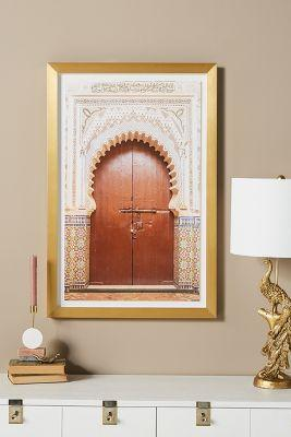 Fez Door Gold Frame Wall Art