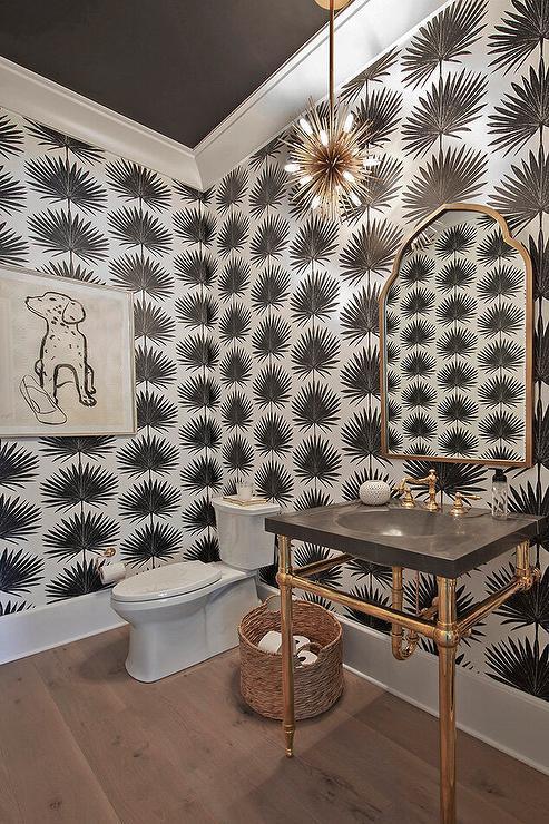 Powder Room Ceiling Wallpaper Design Ideas