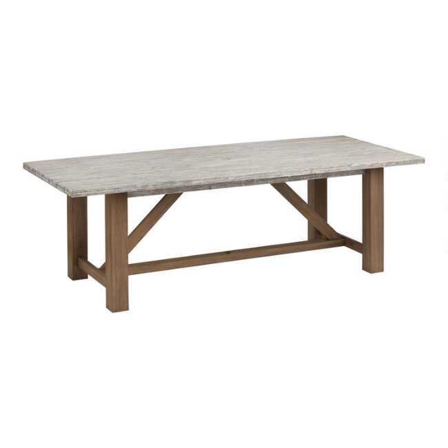 Netanya 2 Tone Eucalyptus Outdoor, Outdoor Trestle Table